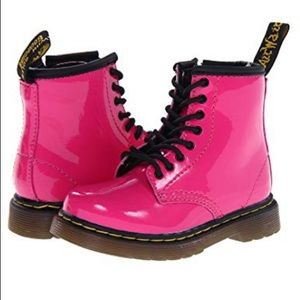 Hot pink toddler doc martens